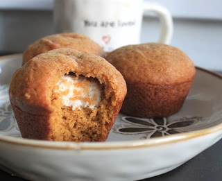 Cinnamon Cream Cheese Filled Muffins