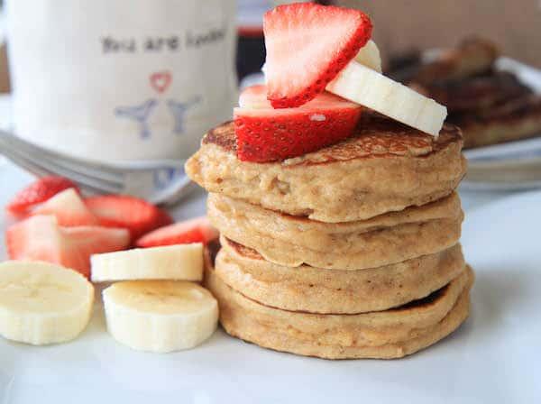 Strawberry Yogurt Pancakes   greens & chocolate