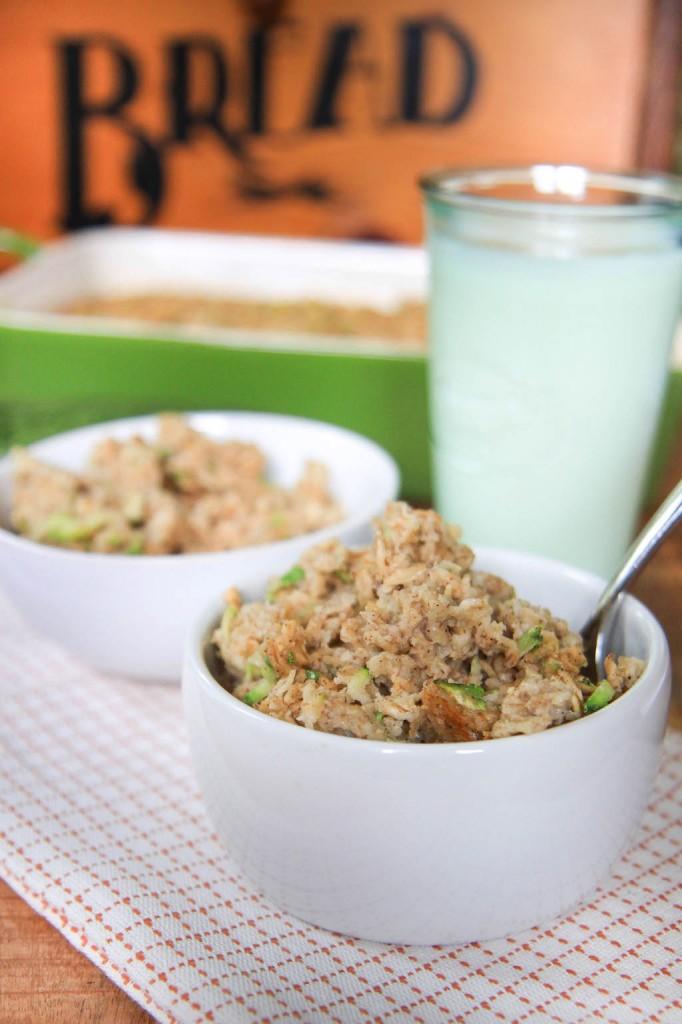 zucchini bread baked oatmeal-7