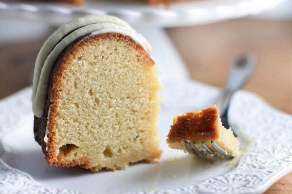 Boozy Eggnog Bundt Cake with Eggnog Buttercream