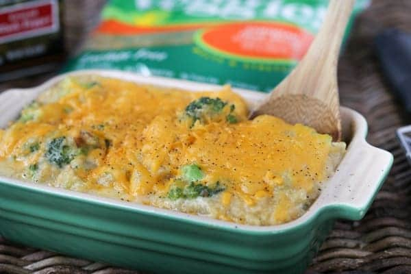 Broccoli Cheddar Quinoa Casserole