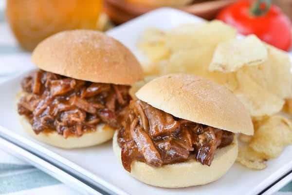 Short Rib Sliders with French Onion Gravy Sauce
