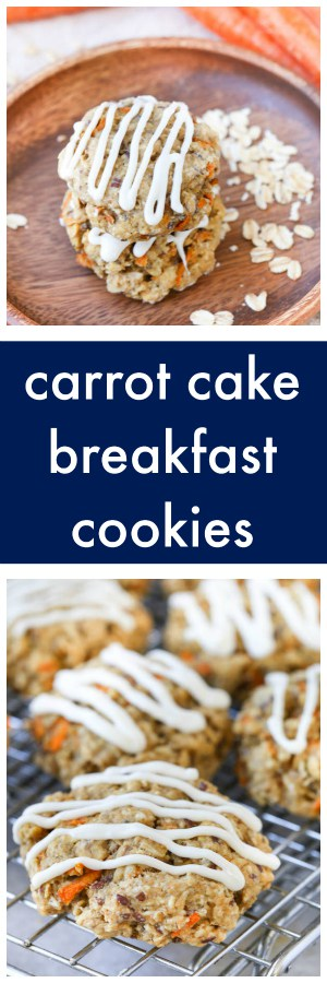Carrot Cake Breakfast Cookies Super Long Collage with Text Overlay