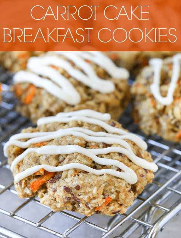 Carrot Cake Breakfast Cookies Collage with Text Overlay