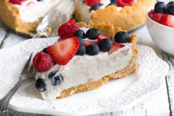 Triple Berry Vanilla Cream Pie
