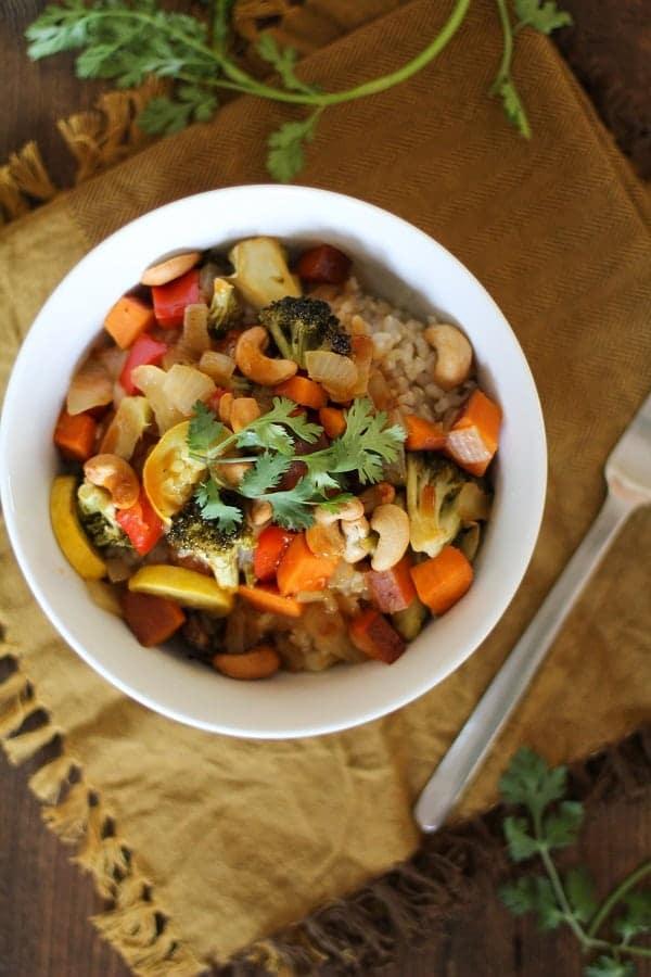 Roasted Vegetable Teriyaki Bowls
