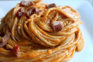 Butternut Squash Bacon and Gruyere Pasta