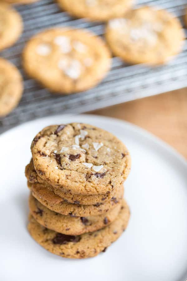 Sea Salt Brown Butter Chocolate Chip Cookies