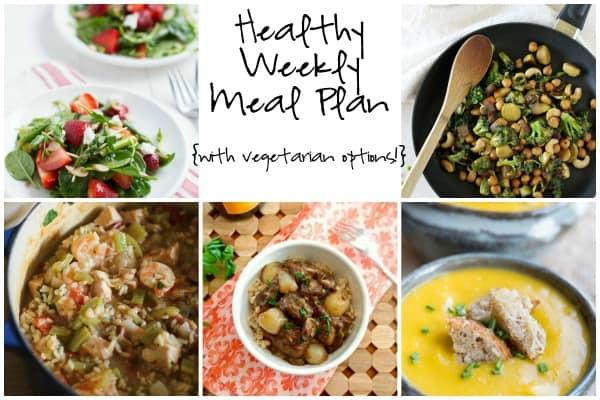 Healthy Weekly Meal Plan - Week of 2.13.16