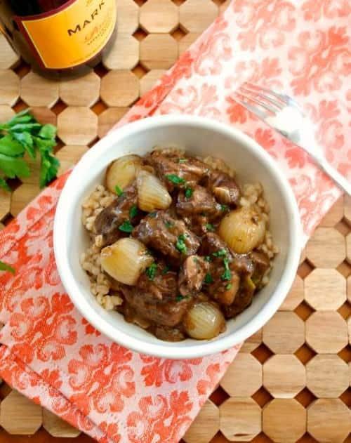 Healthy Weekly Meal Plan Beef Bourguignonne