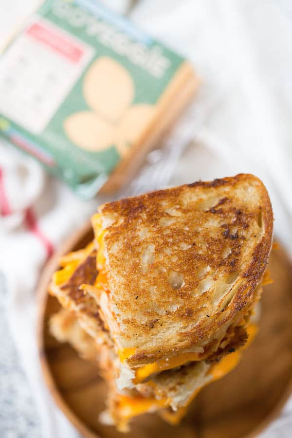 Buffalo Chicken Grilled Cheese Sandwiches-4