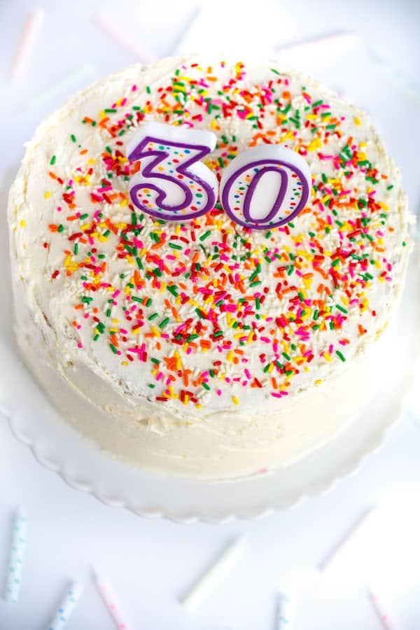 Homemade Funfetti Birthday Cake