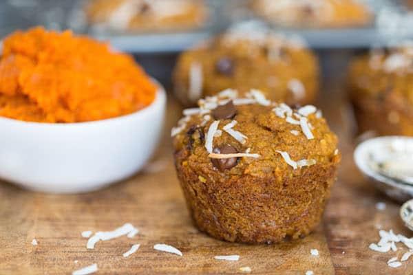 Coconut Pumpkin Chocolate Chip Muffins-4