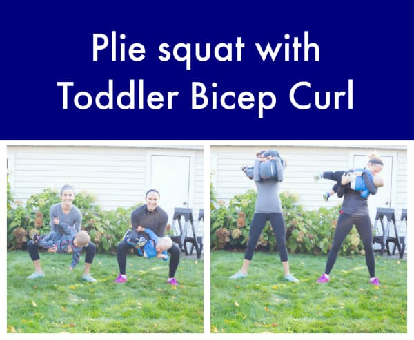 Plie Squat with Bicep Curl