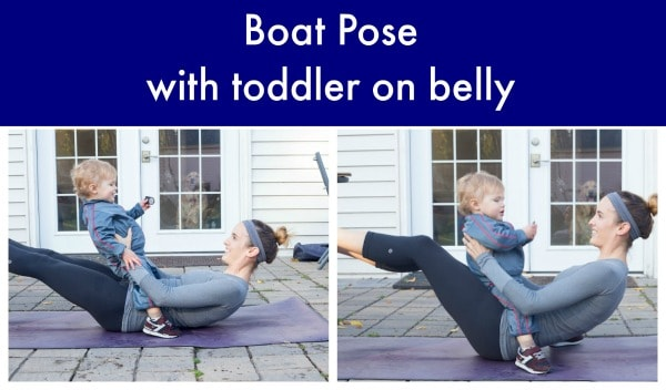 Boat Post with Toddler on Belly