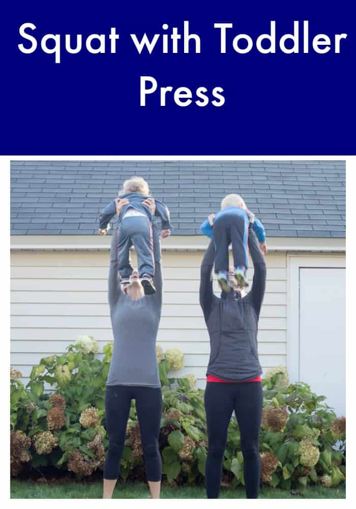 Squat with Toddler Press