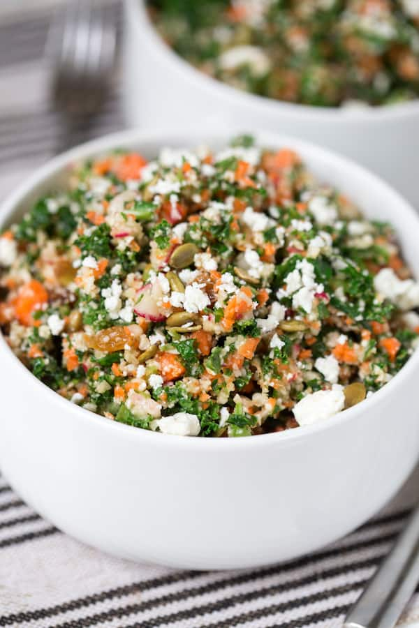 Detox Chopped Kale Salad - Closeup on the Delicious Meal That is Full of Vitamins