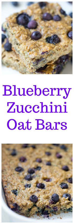 Blueberry Zucchini Oat Bars