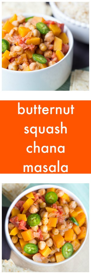Butternut Squash Chana Masala Super Long Collage with Text Overlay