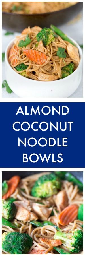 Almond Coconut Noodle Bowls