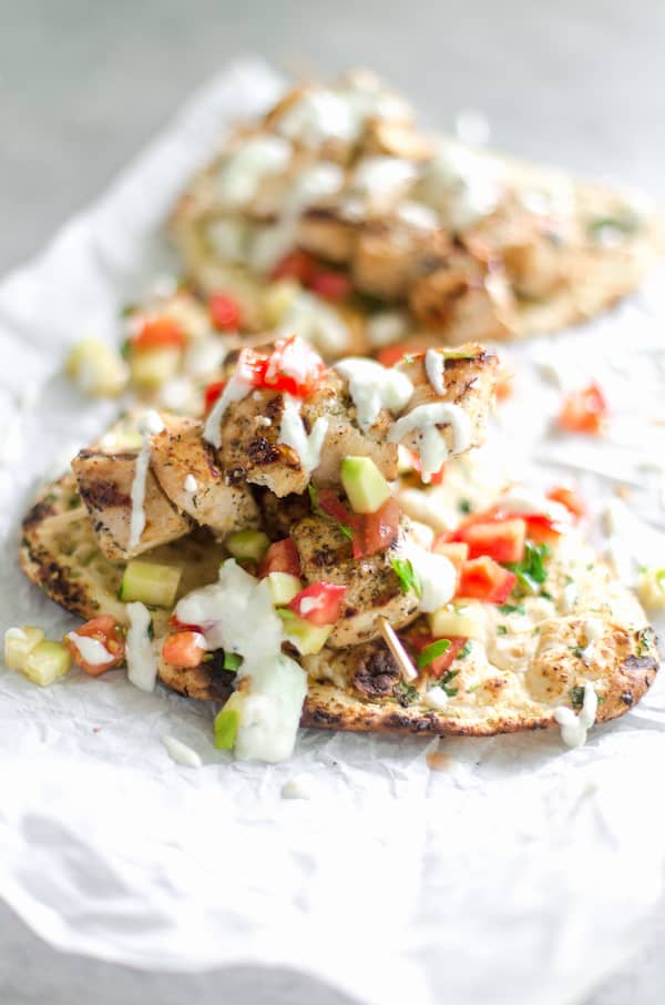 Grilled Chicken Gyros looking absolutely delicious