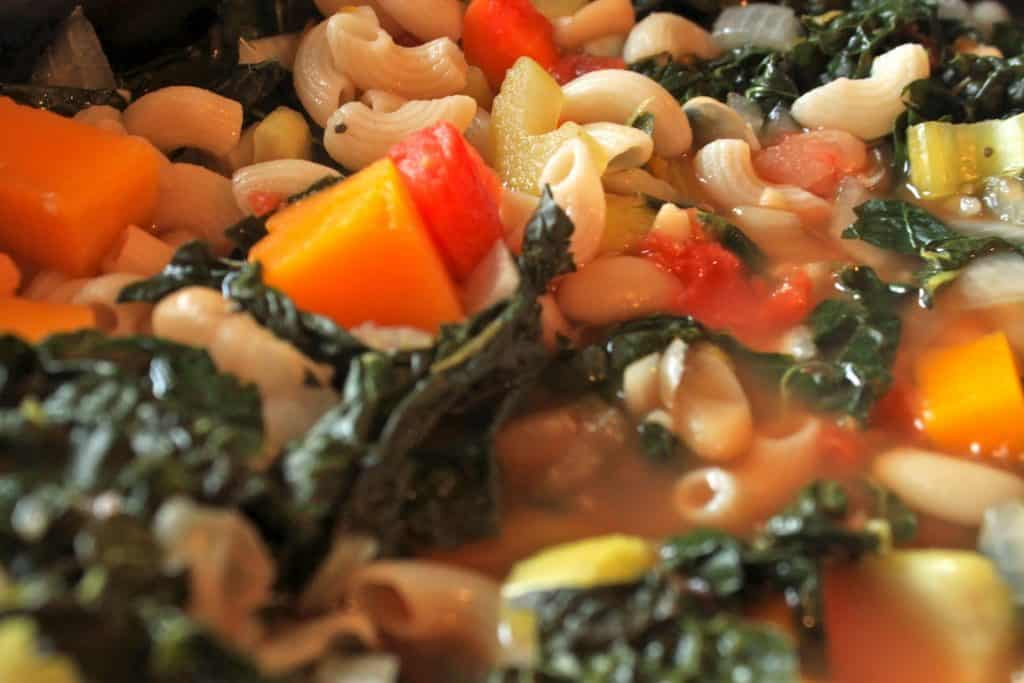 Butternut Squash and Kale Minestrone Delicious Closeup of the Meal