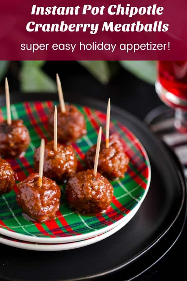 Instant Pot Chipotle Cranberry Meatballs