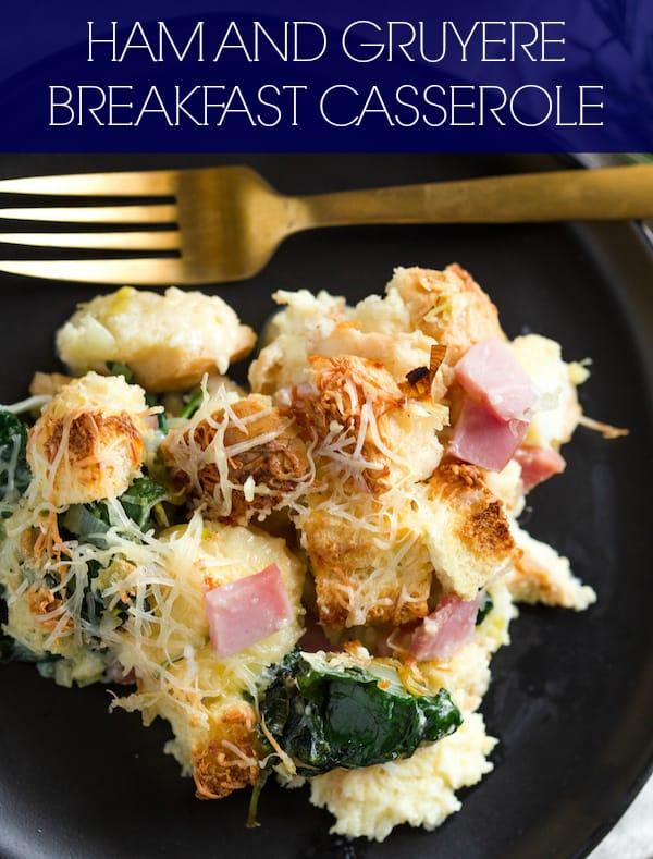 Ham and Gruyere Egg Casserole