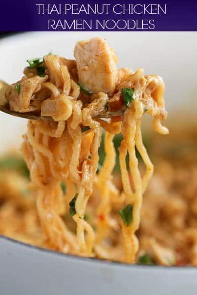 Thai Peanut Chicken Ramen Noodles