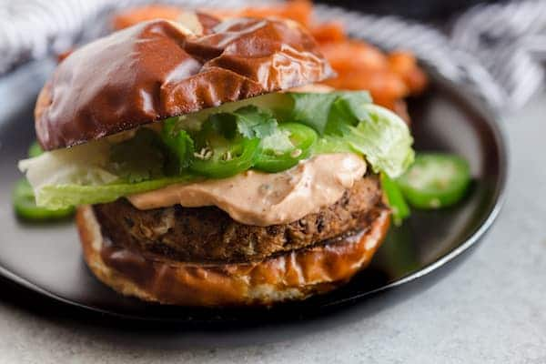 Sweet Potato Burgers with Chipotle Cream Cheese Spread