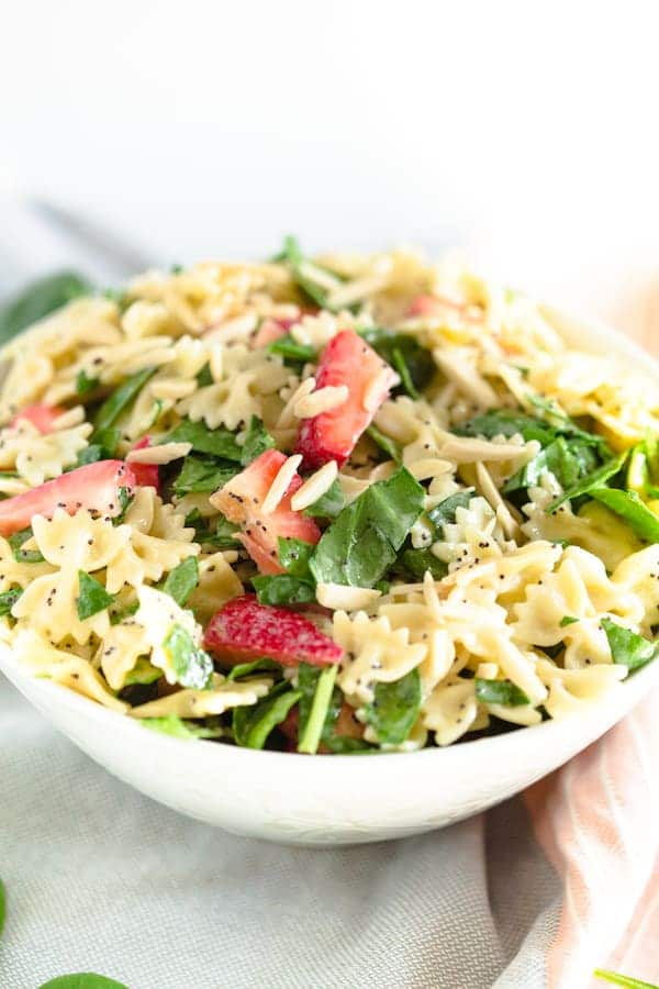 Grilled Chicken Strawberry Poppy Seed Pasta Salad