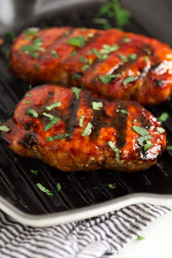Korean Glazed Grilled Pork Chops