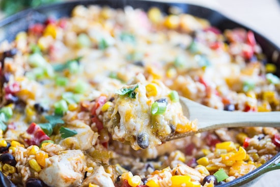 One Skillet Mexican Chicken and Rice