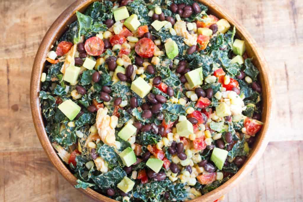 Southwestern Chicken Kale Salad