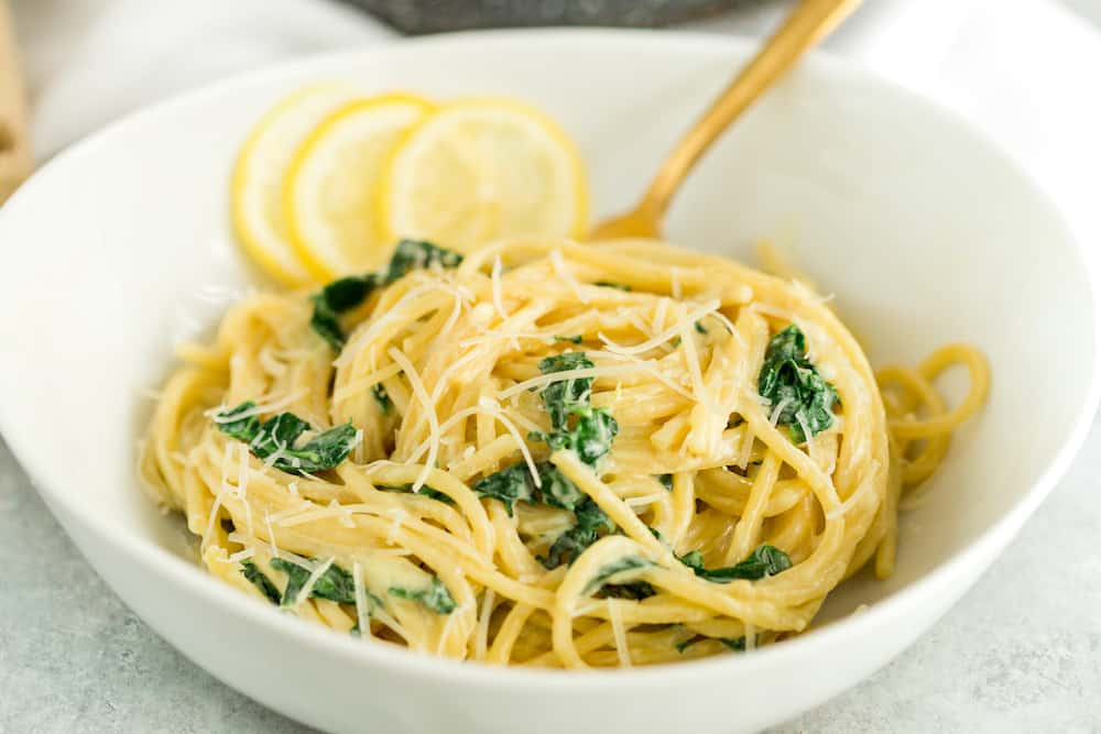 Lemon Parmesan Kale Pasta