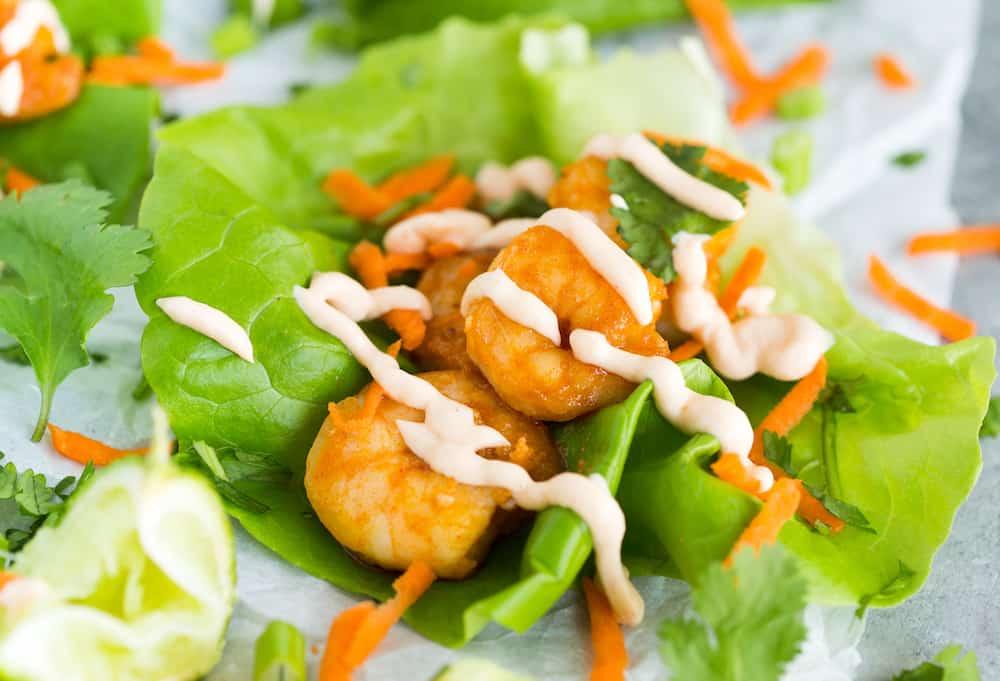 Thai Chili Shrimp Lettuce Wraps