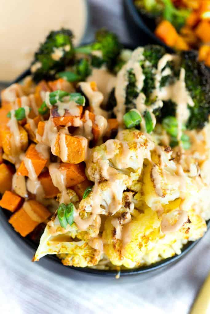 Thai Peanut Vegetable Bowls