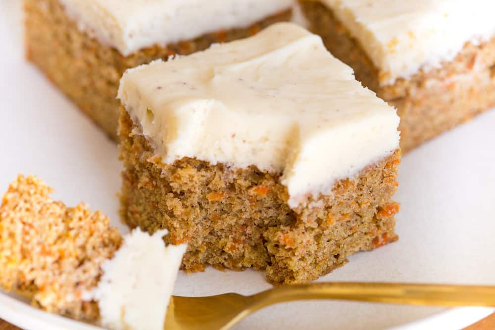Carrot Cake Bars with Brown Butter Cream Cheese Frosting