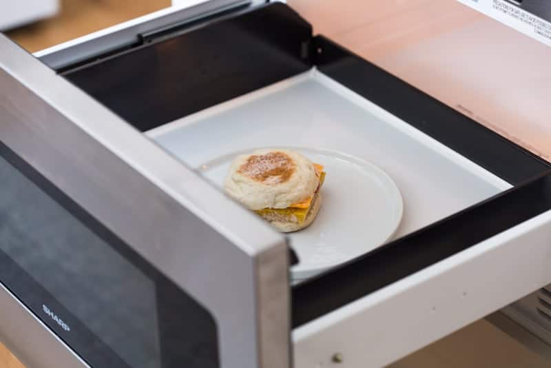 Make Ahead Freezer Breakfast Sandwiches in microwave
