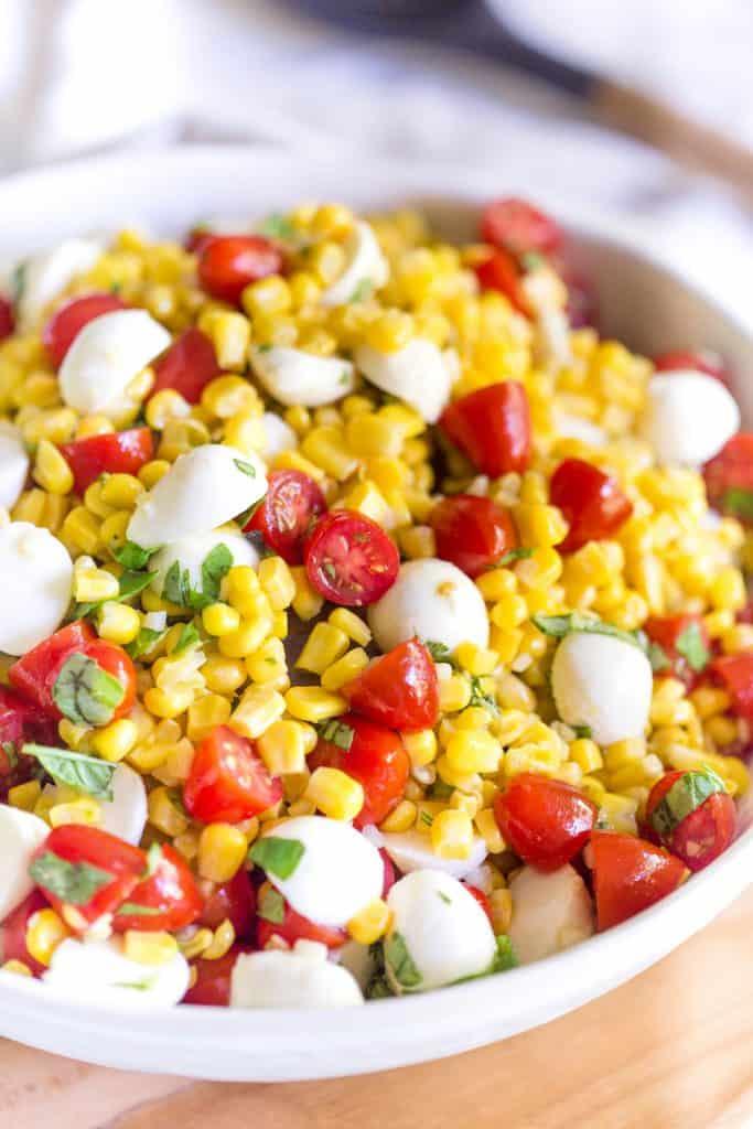 Summer Corn Caprese Salad