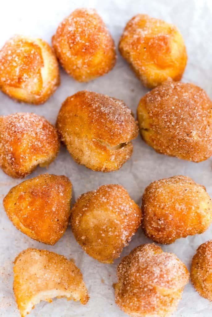 Air Fryer Pumpkin Spice Donut Holes