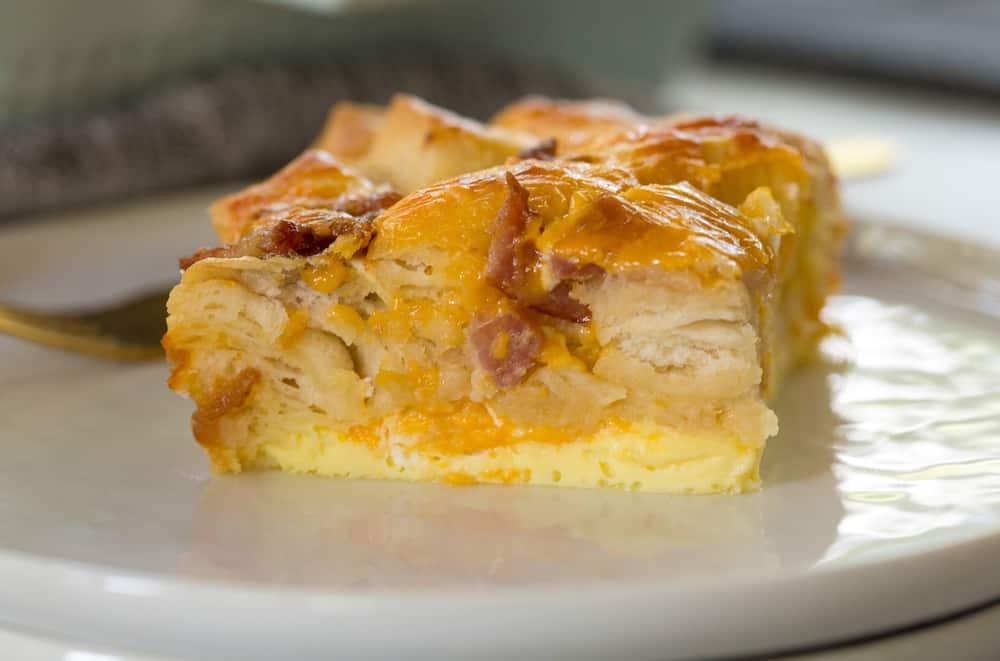 Bacon Egg Biscuit Breakfast Casserole