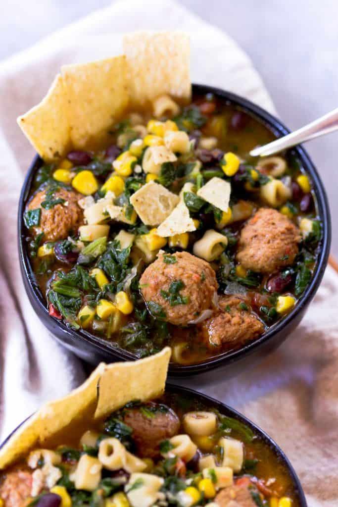 Instant Pot Southwestern Meatball Soup