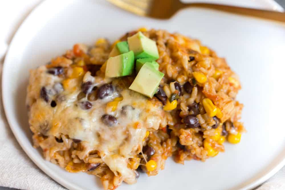 Chicken Taco Rice Casserole