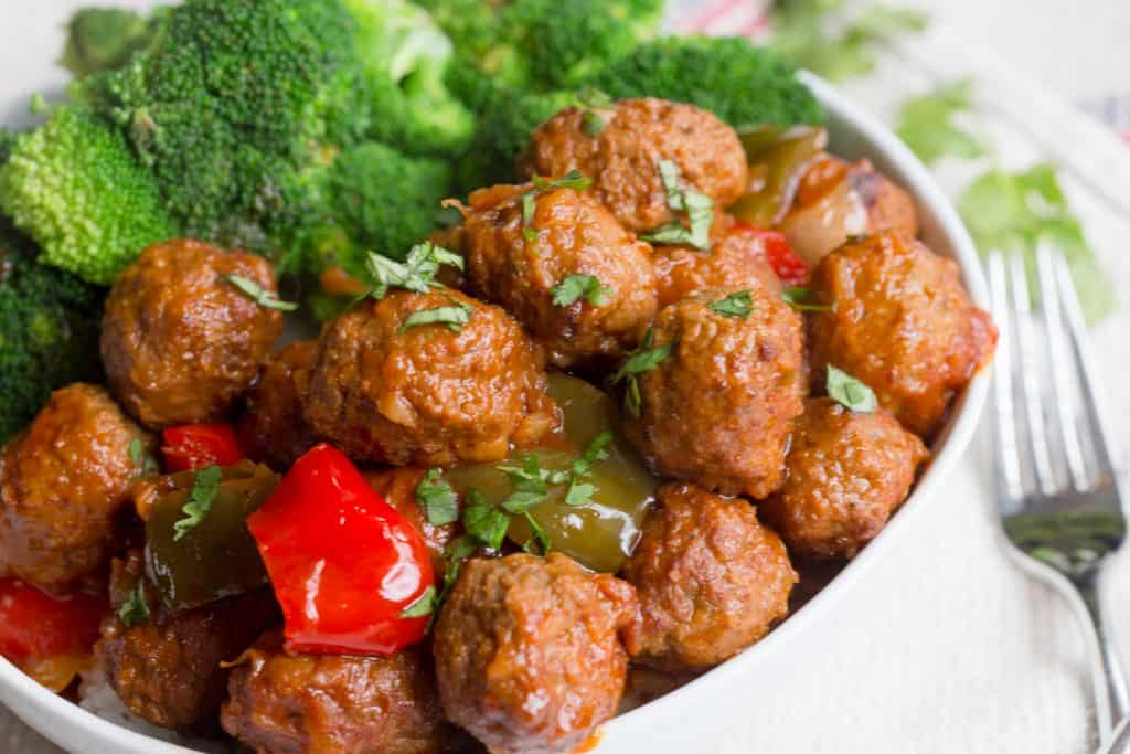 Sweet and Sour Meatballs Easy Freezer Meals