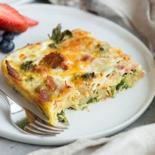Bacon Potato Kale Breakfast Casserole