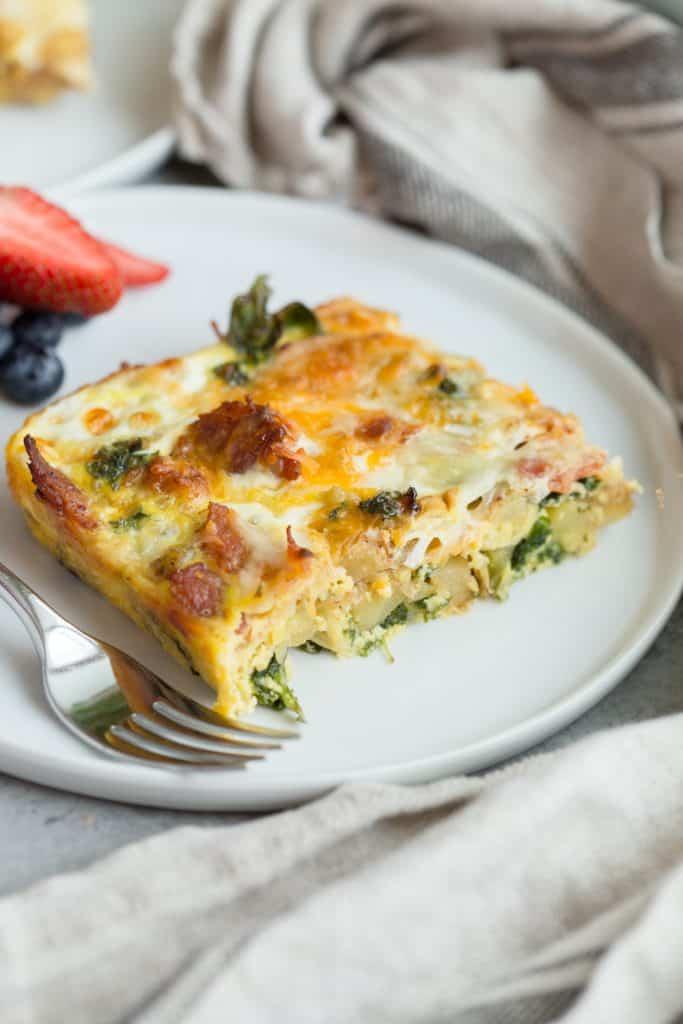 Bacon Potato Kale Egg Bake