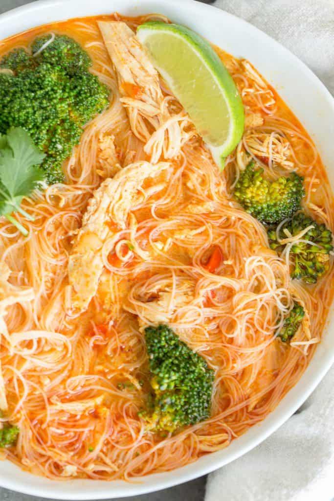 Instant Pot Coconut Curry Chicken Noodle Soup