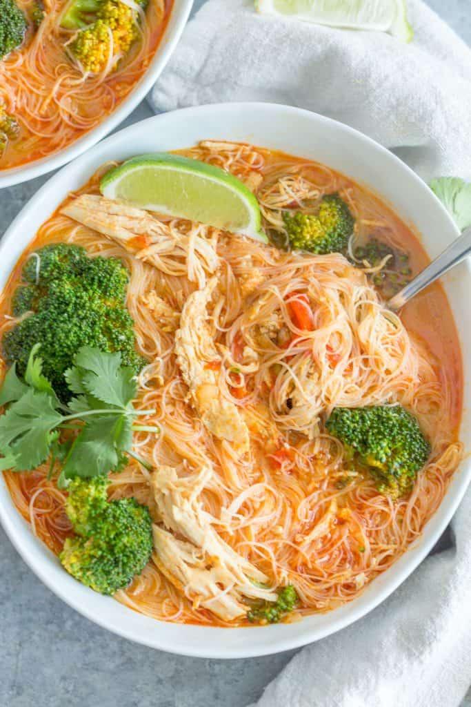 Thai Coconut Curry Noodle Soup Easy Freezer Meals