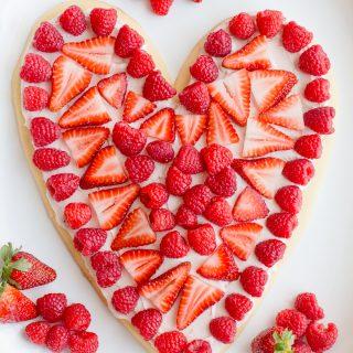 Heart Fruit Pizza